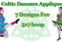 Celtic Dancers Applique