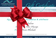 Gift Certificates / Looking for the perfect gift? Why not give the gift of relaxation and wellbeing with a treatment from Acquiesce Massage. Our Acquiesce Massage E-Gift Certificates are a great gift idea for family or friends. Our gift certificates are only valid for Sunshine Coast.
