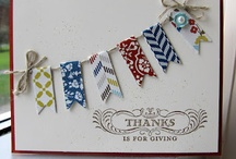 Stampin Up - cards made from scraps