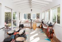 Malibu Boho Ranch / A young family needs a new baby room and a space for music.