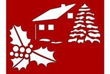 Kivágható sablonok Karácsony