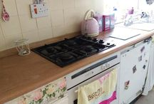 decoupage, retro kitchen / I decorate and made decopage items for my kitchen