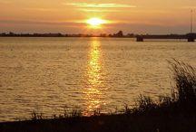 Zonsondergangen vanaf Strandcamping Terherne / Mooie foto's van de zonsondergangen gezien vanaf Strandcamping Terherne gelegen aan het Sneekermeer