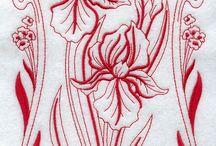 Art nouveau fleurs
