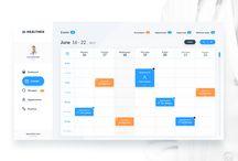 HEALTHEX WEB APP - Day 06 / Day 6:  -Calendar( Doctor side ).  #app  #calendar #date  #design  #doctor  #event  #flat  #health  #light  #ui  #ux  #web