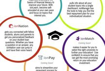 Student loan, finance and college infographics / Read up on student loan tips, financial planning help and more college & finance advice in these iontuition blog infographics.
