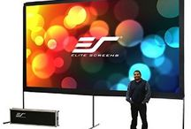Portable, Theater Projection Screen- Elite Screens / Get the latest projectors, Portable Projector Screens and Theater Projection Screen for larger-than-life presentations, movies & video gaming action at Best price.