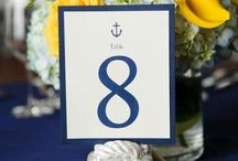 WEDDINGS // Nautical theme / White, navy, blue & red. All nautical related bits & bobs for the perfect wedding.