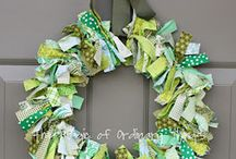St. Patrick's Day Wreaths / Welcome the luck of the Irish to your house with a St. Patricks' Day themed wreath.
