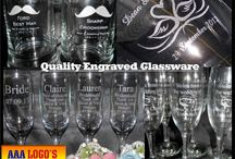 Engraving Service - AAA LOGOS / We can Custom and personalize products with our Engraving service. We offer a huge diversity of glassware & products that we can Engrave, Laser Engrave, or Print.   www.aaalogos.com.au