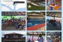 Retiro dos Jovens Oratório de Cristo Rei / Formadores do IMPF no Retiro dos Jovens do Oratório da Paróquia Cristo Rei. — em Puraquequara - Igarapé da Lenha.