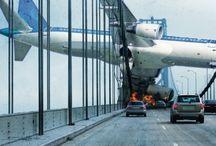 Plane crashes
