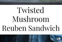 delicious vegetarian sandwiches