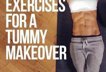 Core tummy exercises