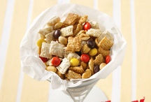 Popcorns, Cereal Mixes & the Like / Sweet & Savory Popcorns, Mixes using your favorite cereals, and of course the old reliable Rice Krispie Treat with lots of variations.
