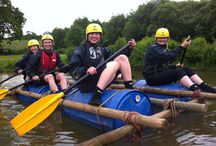 Raft Building / Raft building can be run as a stand alone activity for groups or as part of a Team Building or an Activity Day.  Popular with Hen and Stag Parties, Corporate and Management groups and young people from the age of nine or so upwards.