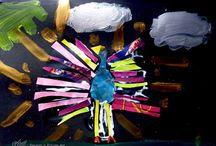 Children make Art with Ellen Weijers Pegasus Paper Art / Art lessons for children on Crete Greece