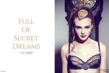 full of secret dreams / photography DIMITRI BURTSEV | production FMD | fashion editor IVA MIRBACH | art director MIKE YORK | makeup ADRIANA HOLBAN & SABINA RETTENBACHER hair DANI CORNEA & EVELIN KARBACH | models KRISTINA S. & SARKA L. & JACQUELIN S.