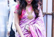 Sari with glittering necks