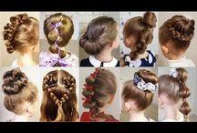 tyttöjen hiukset