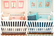 Twins or Multiples Nursery Ideas / Multiples are two, three or more times the fun, but you have to get creative with the space, layout and design of the nursery. Here are some ideas and inspiration for your twin or triplet nurseries!