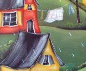 Peinture sur bois/vitrail/vitre