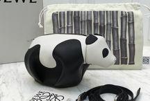 Leather bag from Loewe panda