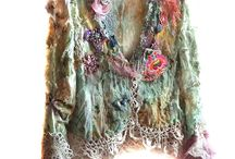 Hippie Boho / Opulent vintage embroidery