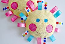 Baby tags made with ribbon