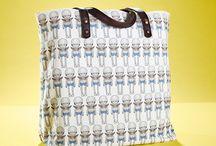 01WARDROBE Autumn/Winter 2013 - Bighead Blue Tote Bag / Cow Skin Leather Shoulder Straps // %100 Cotton Canvas bag / Printed bag / İllustrated bag /  Bighead Blue Tote Bag, $69
