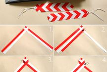 Weaving from paper stripes