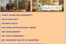 STUDY MASTER PROGRAM IN SPAIN & ITALY / - STUDY IN REPUTED UNIVERSITY - WITH LOW COST* - WITHOUT IELTS* - GET OFFER LETTER WITHIN 1 WEEK* - GETSCHOLARSHIP* - GET PAID INTERNSHIP* - GET SCHENGEN VISA OF 26 COUNTRIES - GOOD CHANCES OF PERMANENT RESIDENCY*
