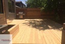 Cedar Deck with Horiztonal Fence