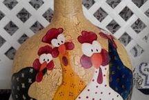 chickens watching