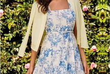 Tea Party / Dress for the occasion with fresh garden florals in spring-perfect pastel shades. Bold blooms and elegant lace adorn prom dresses, shift dresses and lightweight tops, ideal for Sunday lunch, weddings and Christenings this season.