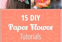 Flower Crafts / Floral craft ideas, paper flowers, creative ways to use flowers