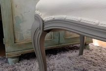 DIY Painting upholstery chairs