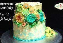 Видео украшения тортиков кремом