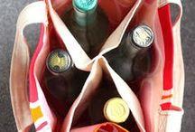 Bolsa carregar vinho ou outras bebidas