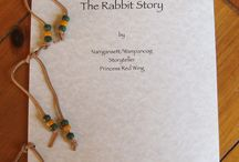 The Rabbit Story Coloring Book  / This is a coloring book of a Wampanoag/Narragansett Rabbit Story. The story comes from Princess Red Wing. Princes Red Wing was one of the first Native Women to address the United Nations.