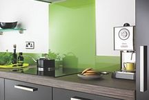 Green splash back