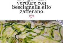 lasagne  alle verdure con besciamella e zafferano