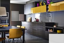 Get The Look > Dark Wood Kitchen / A beautiful contempory design, dark wood effect cabinets & vibrant accessories to add a pop of colour… find out how to get the look of our Kitchen of the Month for January 2017, the Ikea Metod Tingsryd Black Wood Effect Kitchen.