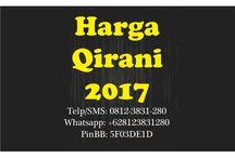 Harga Qirani 2017 / Harga Qirani 2017  Telp/SMS: 0812-3831-280 Whatsapp: +628123831280 PinBB: 5F03DE1D