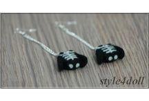 Earrings With Needle Felted