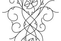 elfickie wzory haftu