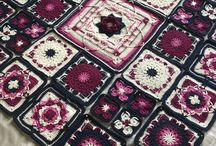 crochet blankets, throws mandalas