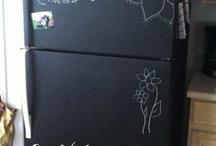 chalkboardpaint fridge