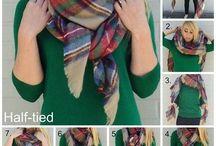 как завязывать шарфы