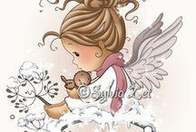 Cute Little Girls, Angels & Fairies.